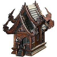 Thai espíritu casa large14 sanpraphum Gran tamaño Real Thai para tallar Madera para Espiritual espíritu encantada
