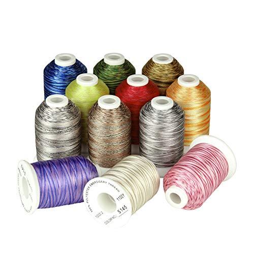Simthread Multi Farben Polyester Maschinen Stickgarn -