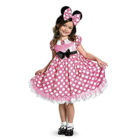 D-guisement Disney Mickey Mouse Clubhouse Rose Glow Minnie Mouse In The Dark Toddler Costume 3T - 4T