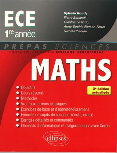 Mathmatiques ECE 1re anne - 3e dition actualise