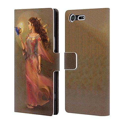 Offizielle Renee Biertempfel Botschafter Jungfrau Brieftasche Handyhülle aus Leder für Sony Xperia XZ Premium