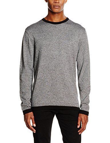 JACK & JONES Herren Pullover Jcomix Knit Crew Neck Schwarz (Black Detail:twist - Knit Fit)