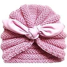 56f4ecd21 Mitlfuny Sombreros de bebé Unisex Invierno Caliente Giro Hilo Indio Gorro  de Punto Elastico Color Sólido