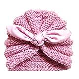 YULAND Mütze Strickmütz Winter Warm Hüte Beanie Für Baby Mädchen Jungen - Neugeborenes Baby-Mädchen Gestrickter Turban Geknoteter Hut-Winter-Warme Beanie Headwear-Kappe