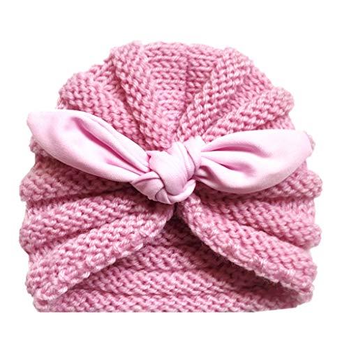YULAND Mütze Strickmütz Winter Warm Hüte Beanie Für Baby Mädchen Jungen - Neugeborenes Baby-Mädchen Gestrickter Turban Geknoteter Hut-Winter-Warme Beanie Headwear-Kappe - Warme Winter-hut
