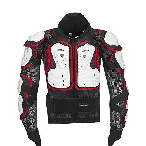 Club Boy Abbigliamento da Motocross/Tuta da Corsa/equipaggiamento Protettivo Abbigliamento antiproiettile per Adulti per Proteggere la Tua Sicurezza (Tinta Unita),whitered,L