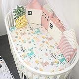 SUNSETGLOW Kindergarten Bettwäsche Safer Stoßstange Soft SAMT Niedlich Haus Geformte Bett Zaun Baby Krippe Stoßstange