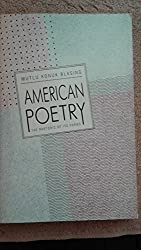 American Poetry: The Rhetoric of Its Forms