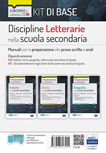 Concorso a cattedra Kit Discipline letterarie nella scuola secondaria - Manuali per le prove scritte e orali del concorso a cattedra classi A22, A12