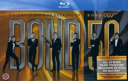 James Bond Collection 23-Disc Box Set ( Skyfall / Quantum of Solace / Casino Royale / Die Another Day / The World Is Not Enough / Tomorrow Never Dies / GoldenE [ Dänische Import ] (Blu-Ray) (Mad Dvd-box-set Men)