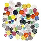 Knopf Sortiment 403810 von Creativ Company - Knöpfe zum Nähen, Basteln oder Dekorieren. Durchmesser: 12, 18 und 20 mm. Diverse Farben. 100 Stück.