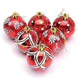 Weihnachtskugeln glänzend glitzernd Christbaumschmuck Ø 6 cm Baumschmuck Weihnachten Deko Anhänger Rot