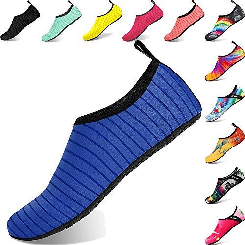 BIGU Aquaschuhe Wasserschuhe Damen Herren Kinder Yoga Badeschuhe Strandschuhe Schnell Trocknend Surfschuhe Schwimmschuhe mit Rutschfeste Sohlen Neoprenschuhe Barfuß Schuhe