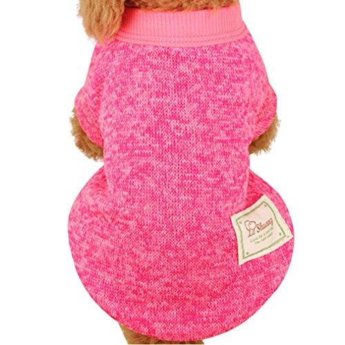 Nette Haustier Hundestrickjacke, Hmeng Einfarbig Wolle Pullover Haustier Welpen Katzen Warmes Hund Mantel 5 Größen 11 Farben (XXL, (Kostüm Elf Hoch)