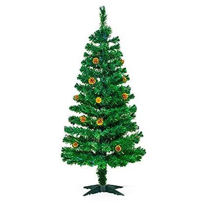 Weihnachtsbaum-mit-LED-Beleuchtung-und-Zapfen