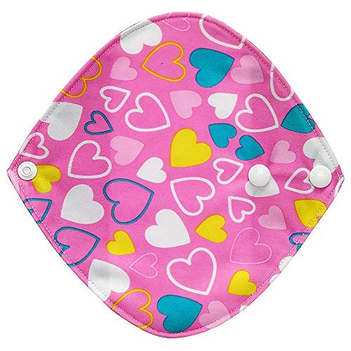 Reusable Waschbare Wiederverwendbare Bambus-Tuch waschbar Menstruationskissen Mama Sanitär Handtuch Pad Menstruations-Pad Menstrual Pads Binden Bambuskohle Menstruationsbinden Stoffbinden (D)