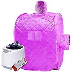 LIU UK Steam Sauna Tent Tragbare 2l Dampfsauna Home Spa GanzköRper Abnehmen Gewichtsverlust Gesunde Detox Therapie Zwei Personen Mit Fernbedienung Dampf Topf Maschine