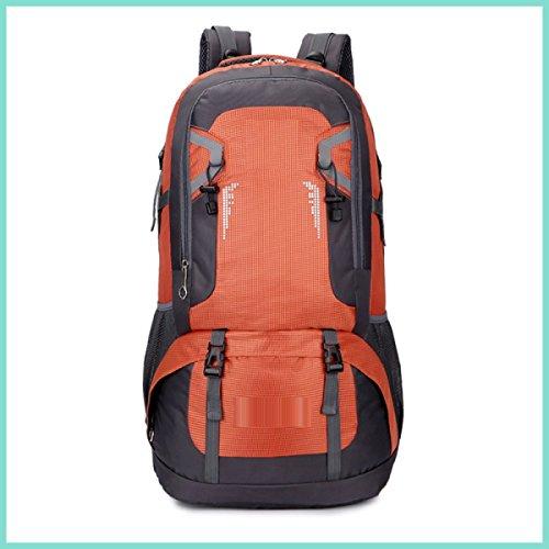 LQABW Outdoor Leisure 40L60L Spalla Impermeabile Di Grande Capienza Panno Di Viaggio Alpinismo Oxford Traspirante Arrampicata Zaino Borsa,Red Orange