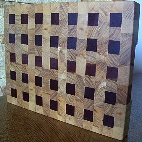 Tagliere Grande End Grain Chopping Board Cutting Board Thick Elm Sapele 36.5x27.5x4cm / 14.4x10.8x1.5 (Tagliere End)