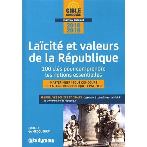 Laïcité et valeurs de la République - 100 clés pour comprendre les notions essentielles