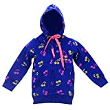 #5: IndiPlay Cotton Hooded Full Sleeve Jacket for Girls - Best Indian Made Zipper Hoodies for Girls