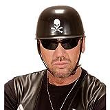 Amakando Skull Motorradhelm Gothic Biker Totenkopfhelm Totenschädel Bikerhelm Totenkopf Helm Karneval Kostüm Zubehör Hardrock Motorrad Kopfbedeckung Rocker Totenkopfhelm