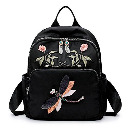 Ladies shoulder bags,[folk-custom]/borsa di tela-nero nero