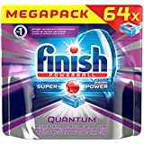 Finish Calgonit Quantum, tablettes lave-vaisselle, Mega Pack, 64 Tablettes