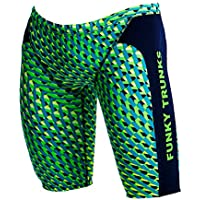 Funky Trunks Boys Training Jammers Green Gator Badehose