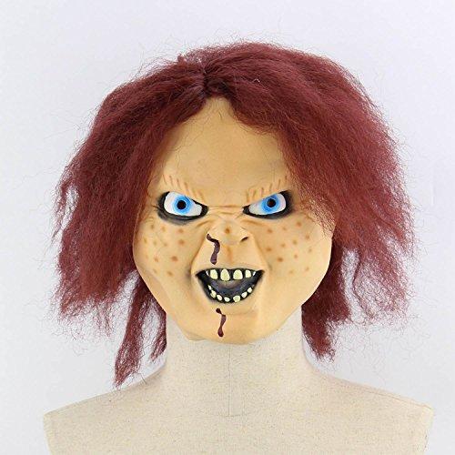 ess Zombie Mumie Feuergesicht Stinkend Halloween Room Escape Spukhaus Prop Scary Latex Zombie Geistermaske E ()