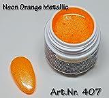 5ml UV Exclusiv Neon-Farbgel Orange Metallic