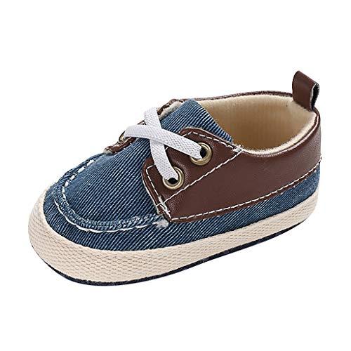 Alwayswin Mode Freizeitschuhe Flache Lace Up Canvas Sneaker Weiche Prewalker Single Schuhe Bequem rutschfest Kleinkindschuhe Cool Gummi Britischer Stil Turnschuhe Einzelne Schuhe -