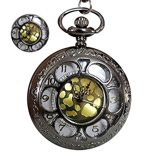 schenuhr Unisex Kettenuhr Uhr Taschenuhren mit Halskette Kette Vatertag Geschenk - Waffenfarbe (Frauen Römischen Kostüme)