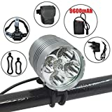 Wasafire LED Bike Light, 6000 Lumen Rechargeable Bicycle Light, Super Bright, Waterproof LED