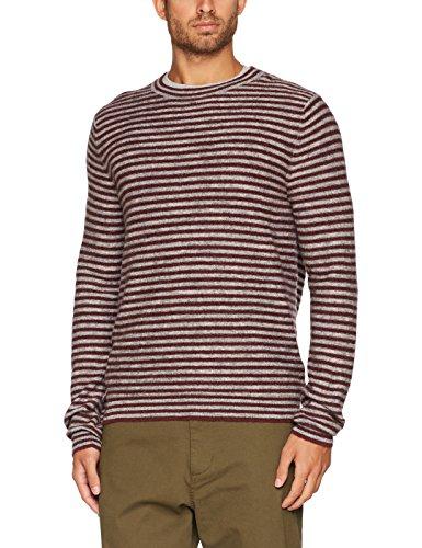 BRAX Herren Pullover Rick M, Rot (Chestnut 42), Large (Herstellergröße: 52) (Herren-pullover Alpaka-wolle)
