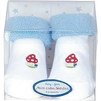 Calcetines de Bebé Seta de la Suerte Azul Claro Serie BabyGlück de Spiegelburg (Talla Única)