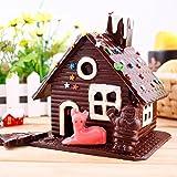 Himki Weihnachten Lebkuchenhaus Backform DIY Weihnachtshaus Schokoladen-Gussformen 4-teiliges Set