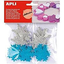 e2fad744275 APLI - Bolsa formas EVA adhesiva purpurina formas copo nieve