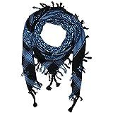 Superfreak® Palituch Grundfarbe schwarz°PLO Schal°100x100 cm°Pali Palästinenser Arafat Tuch°100% Baumwolle - alle Farben!!!