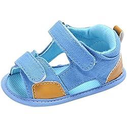 pattini di bambino Koly_Bambino appena nato Canvas s Sandali Scarpe suola molle Crib Toddler (Age:0~6 Month, Light blue)