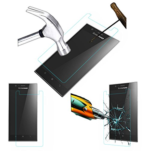 Acm Tempered Glass Screenguard For Lenovo K900 Mobile Screen Guard Scratch Protector