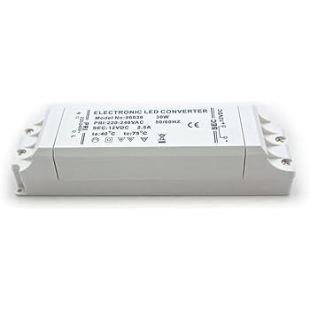 Mini LED Transformator 12V DC 2,5A 30W elektronischer: Amazon.de ...