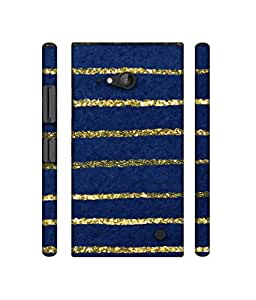 NattyCase Lines Pattern Design 3D Printed Hard Back Case Cover for Nokia Lumia 730