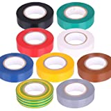Set 9 Rollen PVC Isolierband Klebeband 10 Meter lang 15 mm breit
