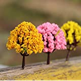 Ciaoed Miniaturas árbol de Plantas Artificial Plantas Modelo Adorno Maceta Decoración ( Modelo Aleatorio )