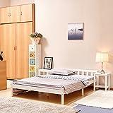 Fanilife letto matrimoniale cornice in legno di pino 4letto per bambini adulti camera da letto bianco