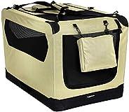 AmazonBasics Premium Folding Portable Soft Pet Dog Crate Carrier Kennel - 36 x 24 x 24 Inches, Khaki