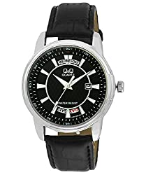 Q&Q Regular Analog Black Dial Mens Watch - A184J302Y