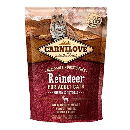 Carnilove Carnilove Reindeer Energy & Outdoor Comida Deshidratada Para Gato 2 Kg - Paquete de 17 x 117.65 gr - Total: 2000 gr