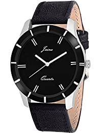 Jainx Black Dial Analog Watch For Men & Boys - JM221